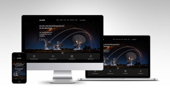 Website Onventis GmbH Redesign